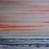 zweven over water 100 x 100 cm